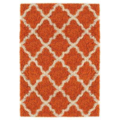 Bella Collection Orange 1 ft. 8 in. x 2 ft. 7 in. Accent Rug