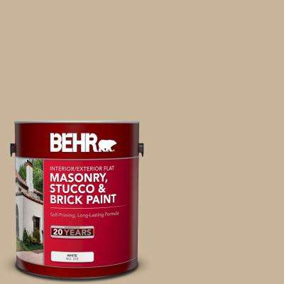 1 gal. #PPU4-07 Mushroom Bisque Flat Interior/Exterior Masonry, Stucco and Brick Paint