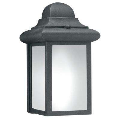 1-Light Black Outdoor Wall-Mount Lantern