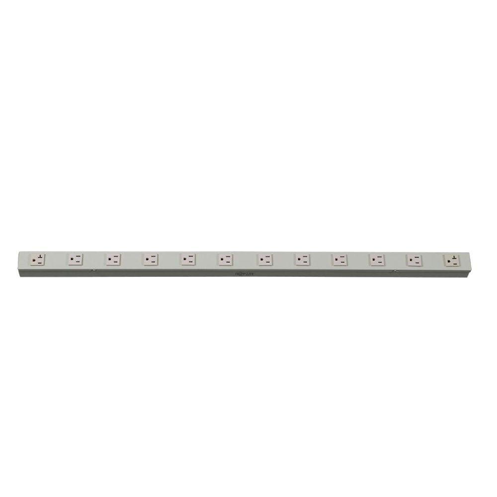 Power Strip 120-Volt and 5-15/20R; 10 5-15R Hardwire Vertical Metal 0U