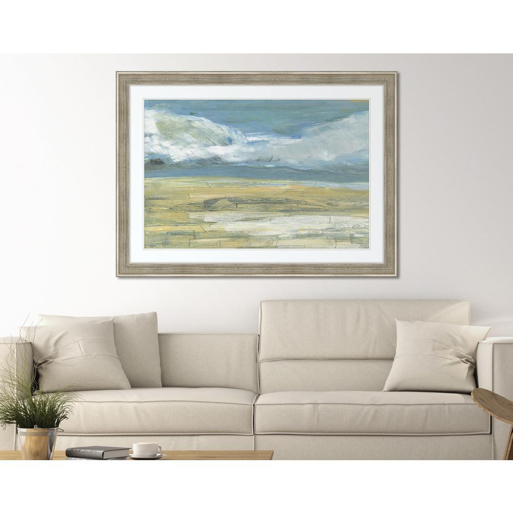 "45 in. x 33 in. ""Summer Days II"" Framed Giclee Print Wall Art"