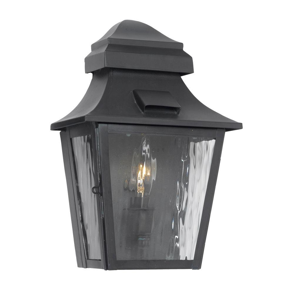 Titan Lighting Monterey 1-Light Wall Mount Outdoor Charcoal Sconce