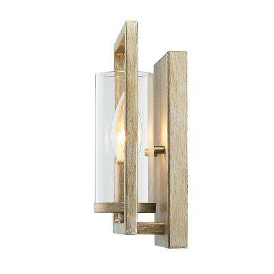 Marco 1-Light White Gold Sconce