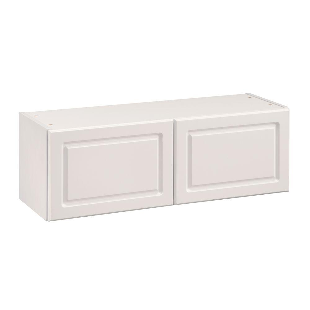 Heartland Cabinetry Heartland Ready to Assemble 36x12x12.5 in. Short Wall Cabinet with Double Doors in White