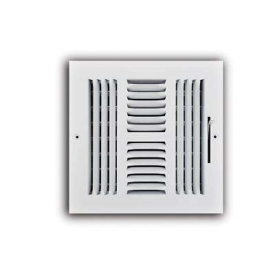 8 in. x 8 in. 4 Way Wall/Ceiling Register