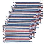 13 in. x 19 in. Multi Cotton Heartland Stripes Placemat (Set of 6)