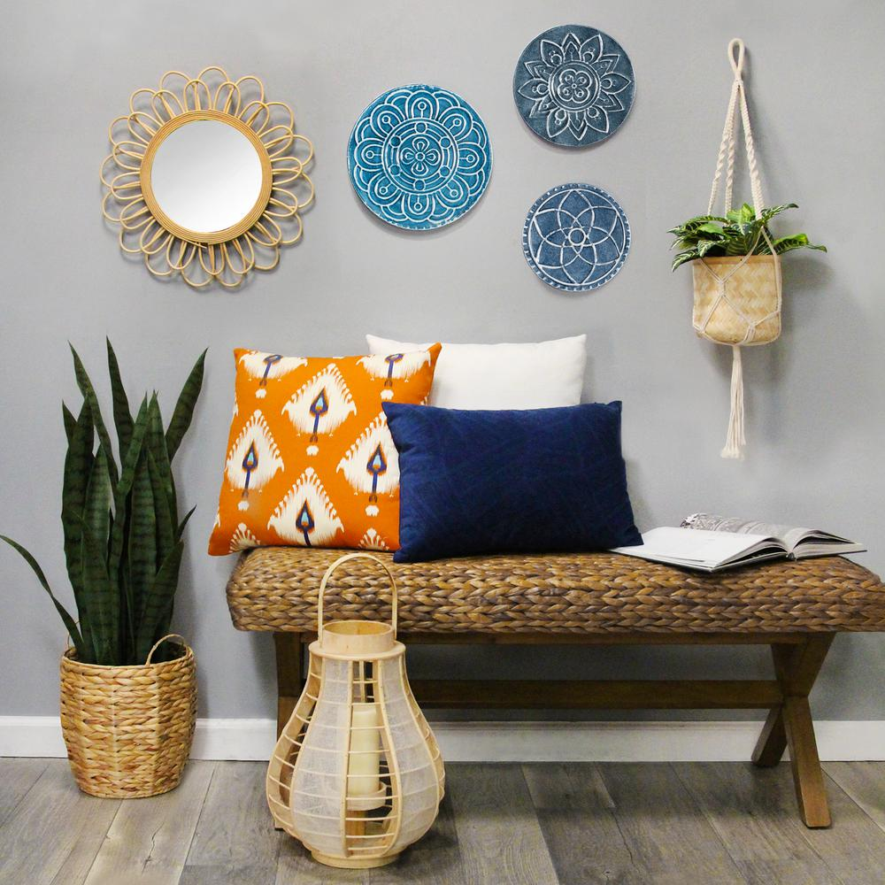 Stratton Home Decor Set Of 3 Mykonos Metal Plates Wall Dcor S23727 The Home Depot