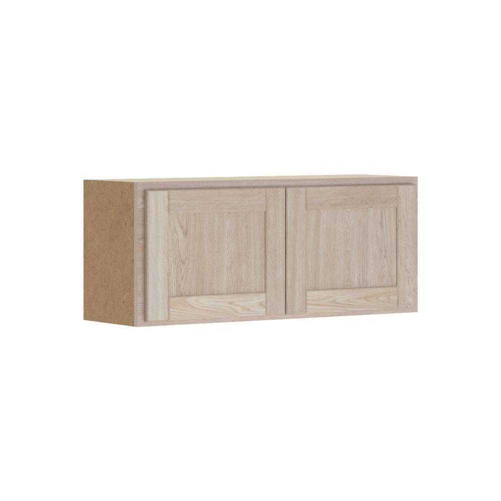 Buying Unfinished Kitchen Cabinets: Hampton Bay Stratford Assembled 36x15x12 In. Wall Bridge