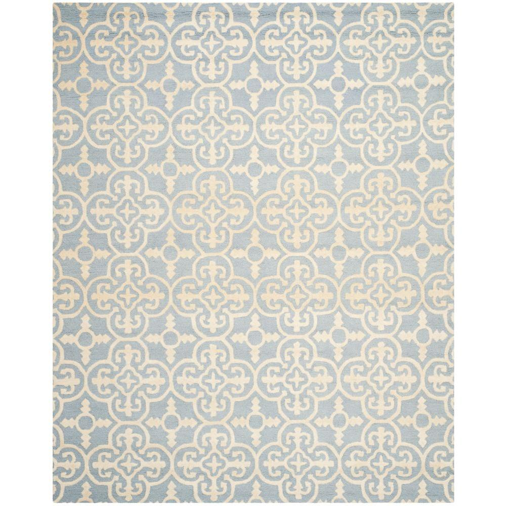 Cambridge Light Blue/Ivory 7 ft. 6 in. x 9 ft. 6