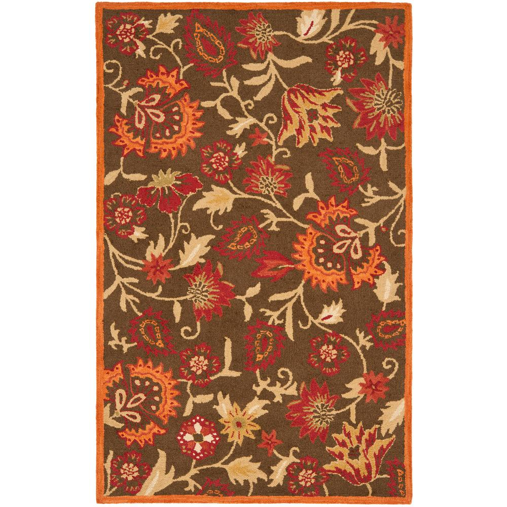 Blossom Brown/Multi 5 ft. x 8 ft. Area Rug