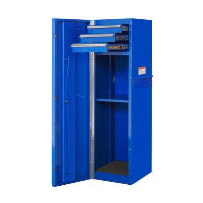 16 in. 3-Drawer 1-Shelf Standard Side Cabinet, Blue