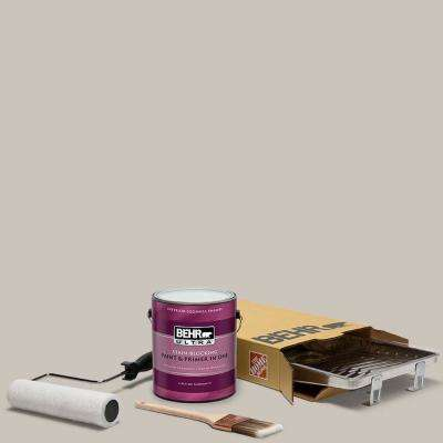 1 gal. #N200-2 Doeskin Gray Ultra Eggshell Enamel Interior Paint and 5-Piece Wooster Set All-in-One Project Kit