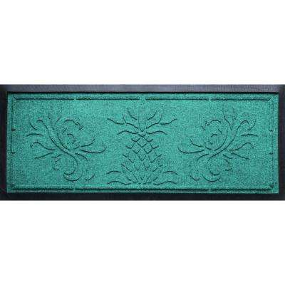 Aquamarine 15 in. x 36 in. x 0.5 in. Pineapple Boot Tray