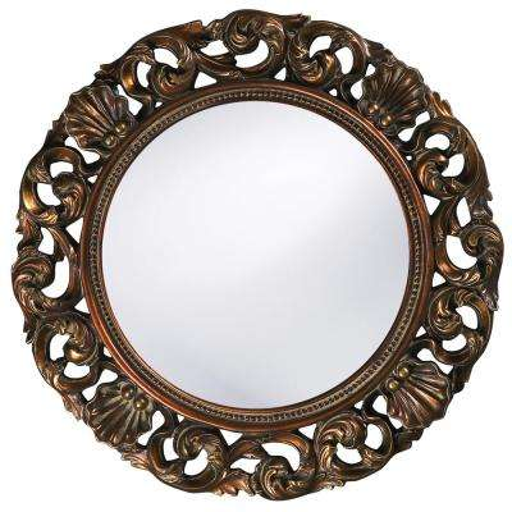 26 in. x 26 in. Round Framed Mirror
