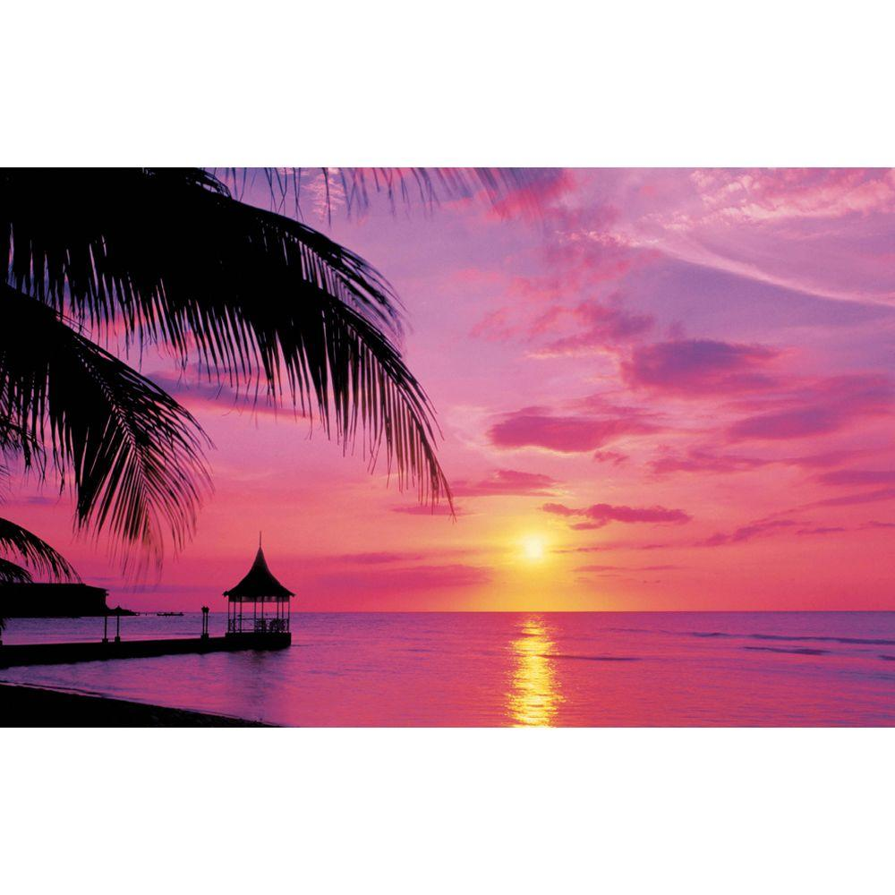 Ideal Decor 50 In X 144 In Montego Bay Wall Mural Dm380 The Home