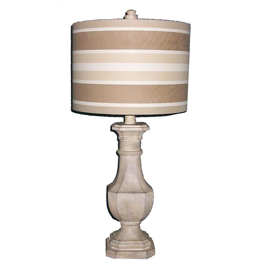 Fangio Lighting 28 in. Antique White Resin Table Lamp-DISCONTINUED
