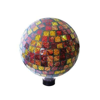 10 in. Red and Gold Gazing Globe