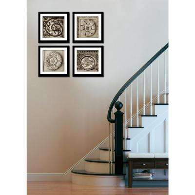 "Four 10 in. x 10 in. ""Paris Circles"" by Neeva Kedem Framed Printed Wall Art"