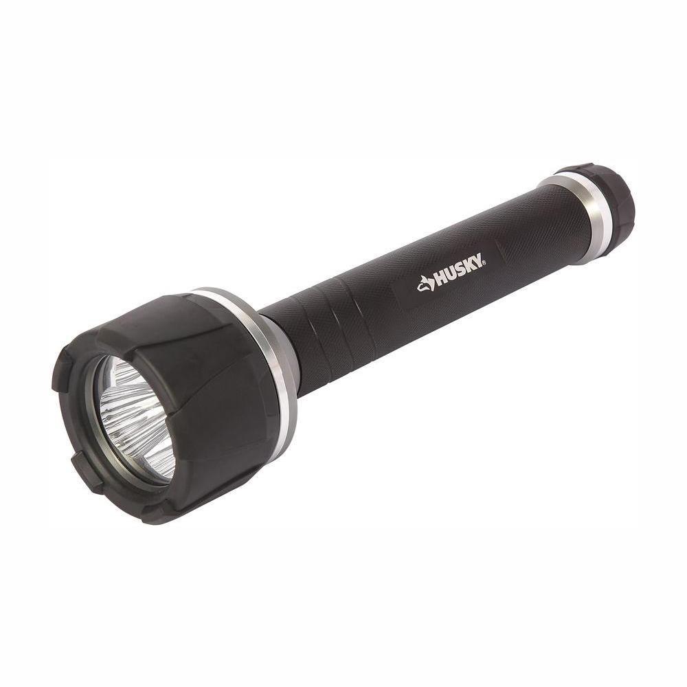 Husky 1000 Lumen Virtually Unbreakable Aluminum Flashlight