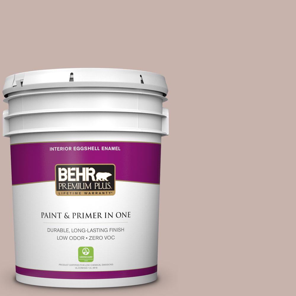 BEHR Premium Plus 5-gal. #PPF-10 Balcony Rose Zero VOC Eggshell Enamel Interior Paint