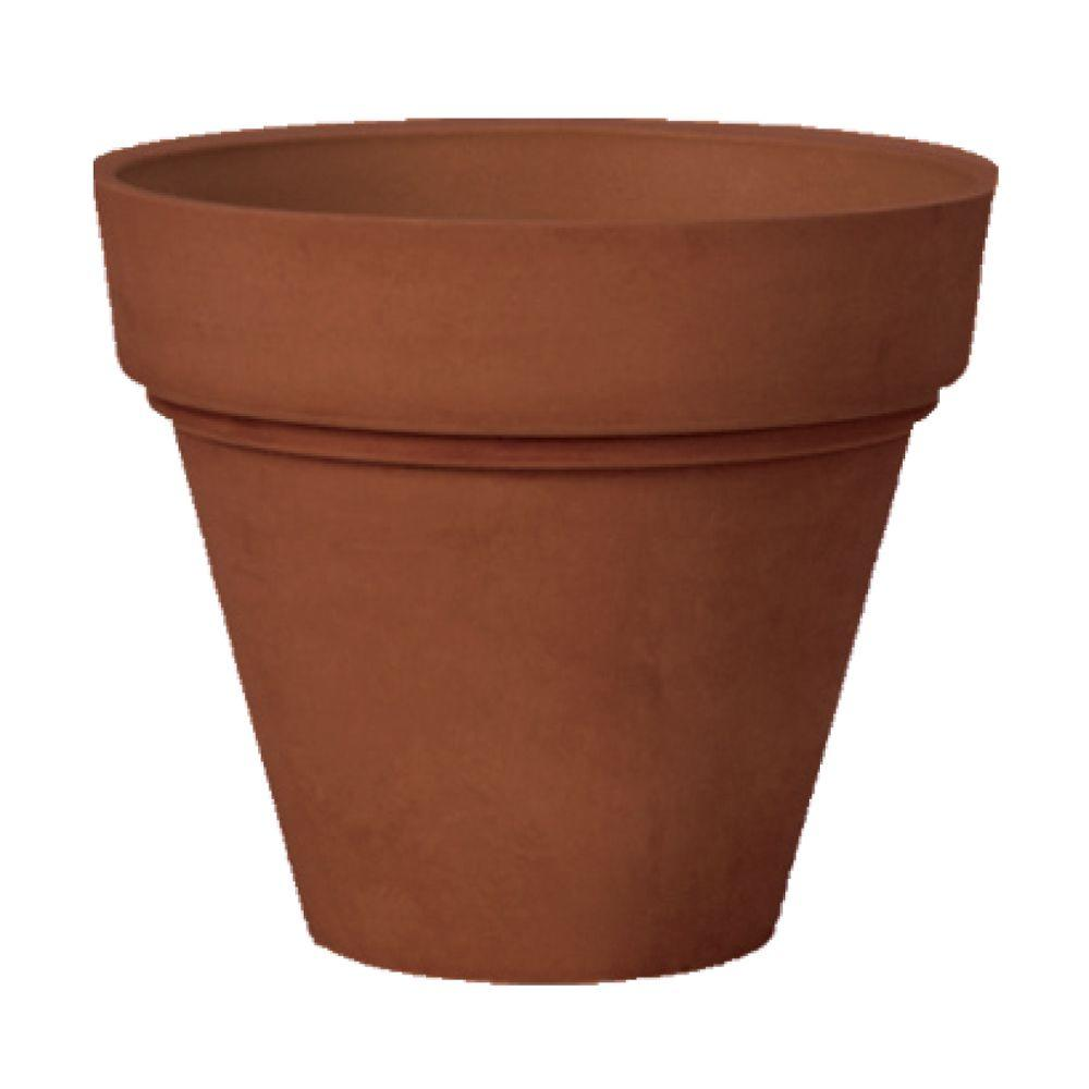 Arcadia Garden Products Traditional 16 in. x 13-1/2 in. Terra Cotta PSW Pot