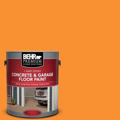 1 gal. #P240-7 Joyful Orange 1-Part Epoxy Satin Interior/Exterior Concrete and Garage Floor Paint