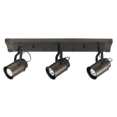Williamsburg 2 ft. 3-Light Dark Wood Track Lighting Kit