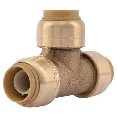 1/2 in. Brass Push-to-Connect Tee (4-Pack)