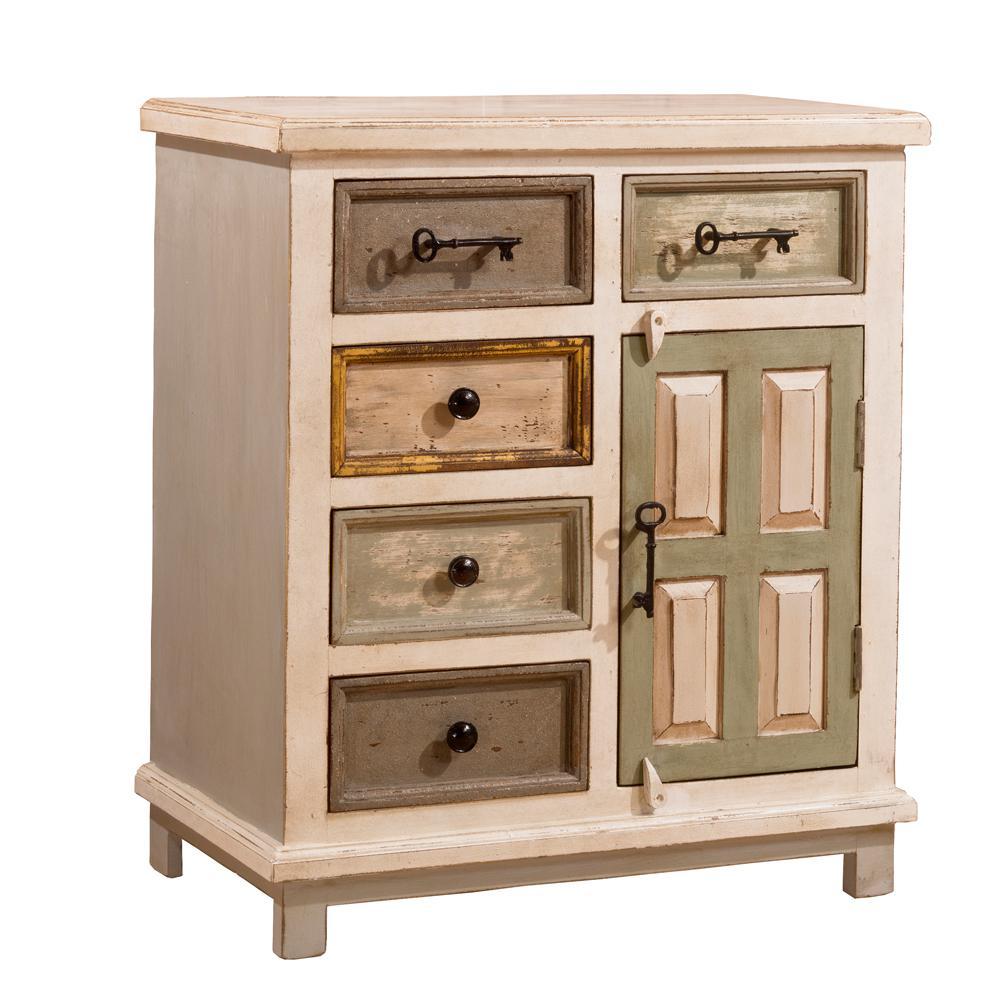 Hillsdale Furniture LaRose Dove Gray and Antique White Cabinet - Hillsdale Furniture LaRose Dove Gray And Antique White Cabinet