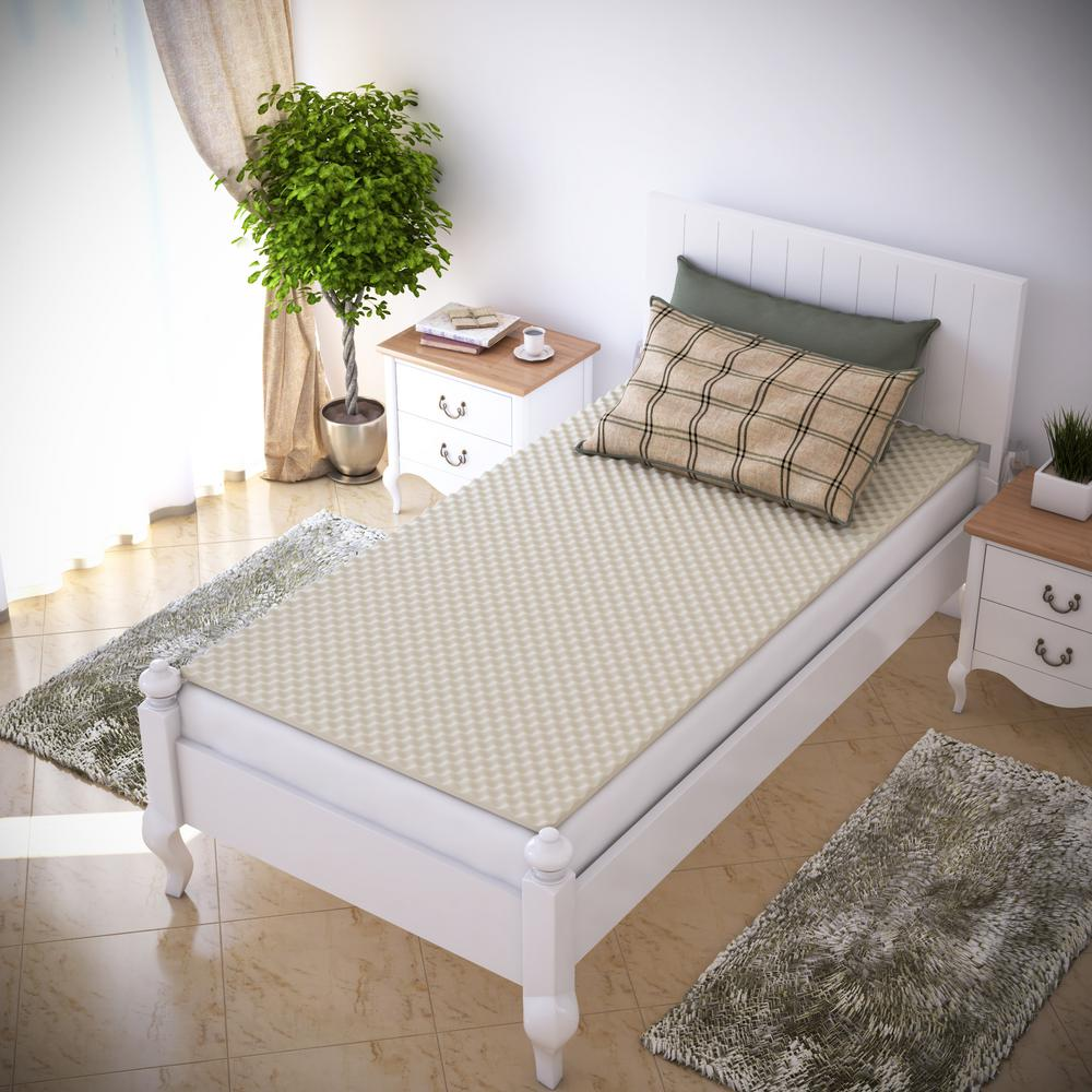 Everyday Home Xl Twin Egg Crate Mattress Topper