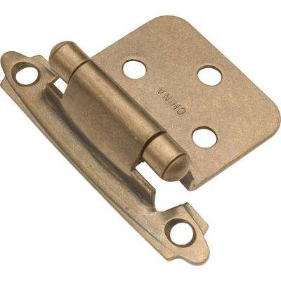 Deco Antique Brass Surface Self-Closing Hinge (2-Pack)