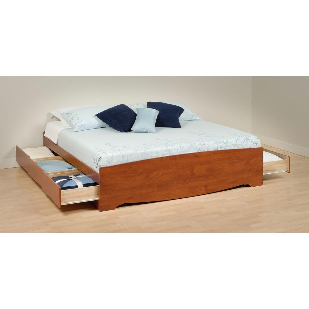 prepac monterey king wood storage bed cbk 8400 k the home depot. Black Bedroom Furniture Sets. Home Design Ideas