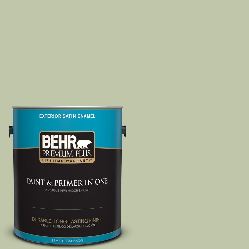 1 gal. #PPU10-08 Minted Lemon Satin Enamel Exterior Paint