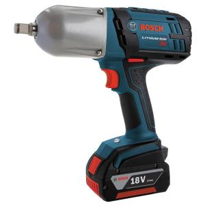 Bosch 18 Volt Lithium-Ion Cordless Electric 1/2 inch High Torque Impact Wrench with Friction Ring Kit and Hard Case by Bosch