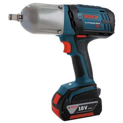 18 Volt Lithium-Ion Cordless Electric 1/2 in. High Torque Impact Wrench with Friction Ring Kit and Hard Case