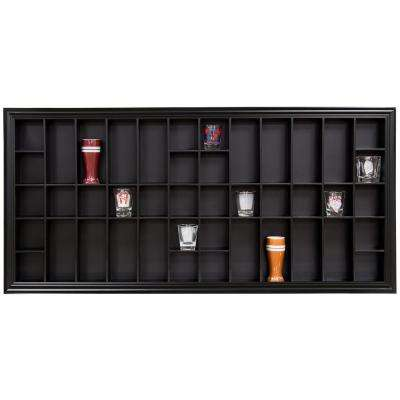 Gallery Solutions 35.3 in. W x 2.7 in. D Black Shot Glass Decorative Shelf