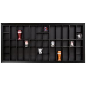 Click here to buy Pinnacle Gallery Solutions 35.3 inch W x 2.7 inch D Black Shot Glass Decorative Shelf by Pinnacle.
