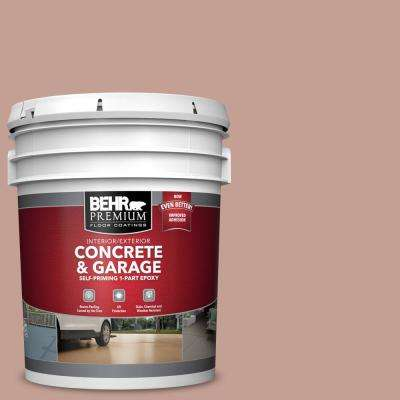 5 gal. #PFC-07 Michel Rose Self-Priming 1-Part Epoxy Satin Interior/Exterior Concrete and Garage Floor Paint