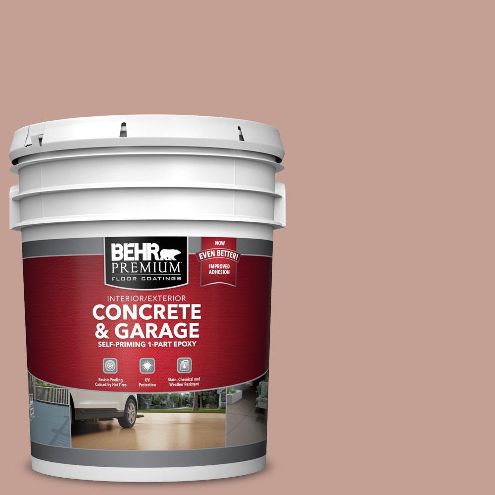 5 gal. #PFC-07 Michel Rose 1-Part Epoxy Satin Interior/Exterior Concrete and Garage Floor Paint