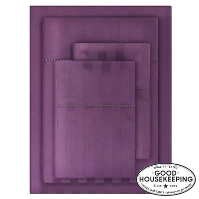 500 Thread Count Egyptian Cotton Sateen 4-Piece King Sheet Set in Orchid Damask