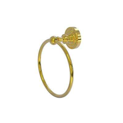 Dottingham Collection Towel Ring in Polished Brass