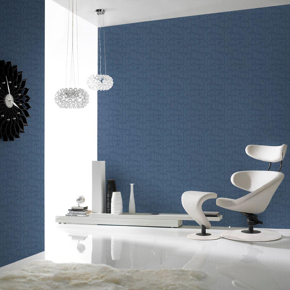 Graham & Brown Tower Blue Wallpaper