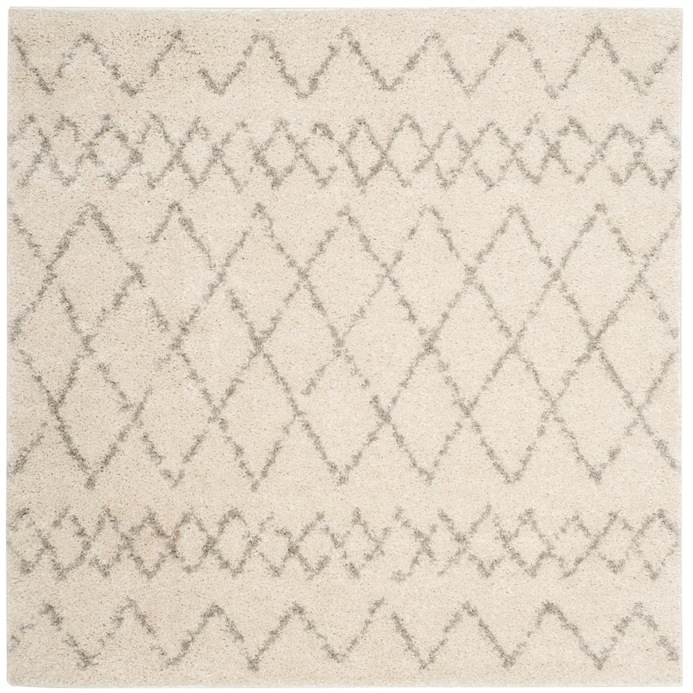Safavieh Berber Shag Creamlight Gray 5 Ft X 5 Ft Square Area Rug