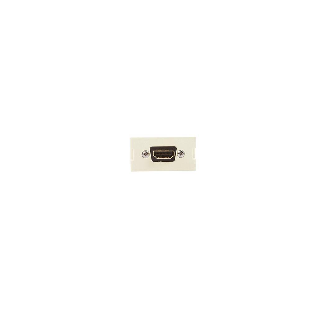 HDMI Feedthrough Multimedia Outlet System (MOS) Module, Light Almond