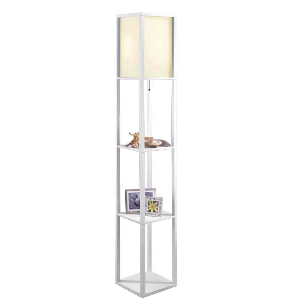Square Etagere Floor Lamp
