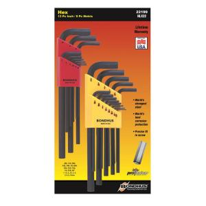 Click here to buy Bondhus Standard and Metric Ball End L-Wrench Sets (22-Piece) by Bondhus.