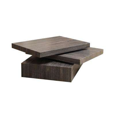 Sammy Black Rectangular Modernesque Rotatable Coffee Table
