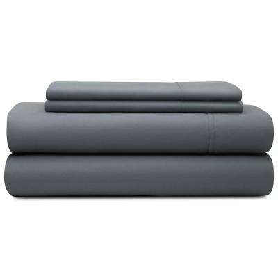 4-Piece Slate Microfiber Queen Sheet Set
