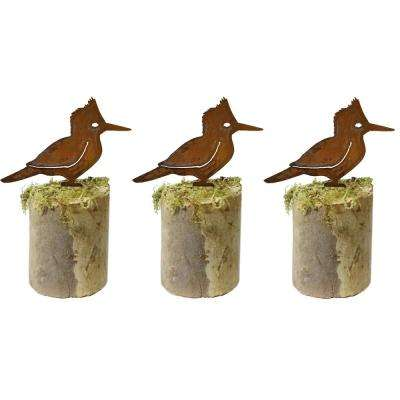 6 in. Tall Metal Rustic Look Artwork Kingfisher Silhouettes (Set of 3)