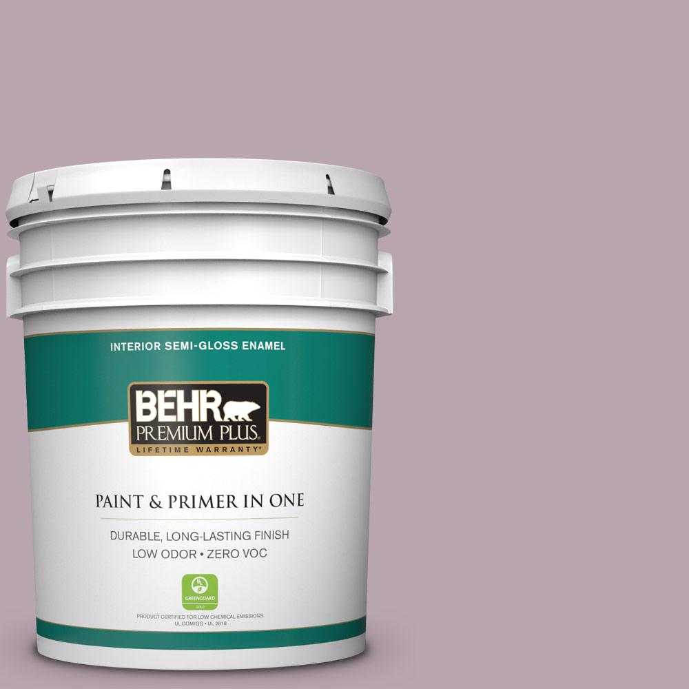5-gal. #690F-4 Midsummer Dream Zero VOC Semi-Gloss Enamel Interior Paint